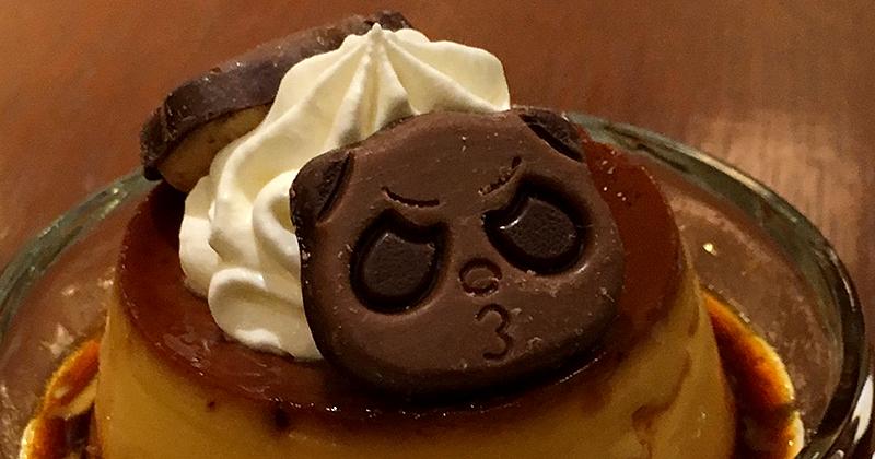 喫茶トリコロール 松坂屋上野店の期間限定さくさくぱんだ手作りプリン