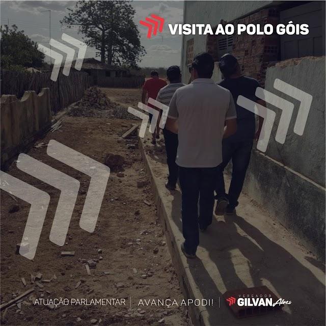 APODI: Vereador Gilvan Alves revindica melhorias para a região do polo Góis