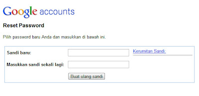 atur ulang password blogger