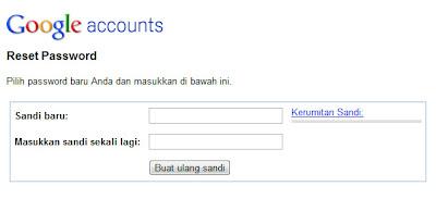atur ulang password blogger