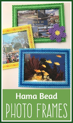 How to make Hama bead photo frames