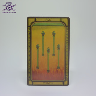 The Golden Tarot (CICO Books) - 5 of Wands