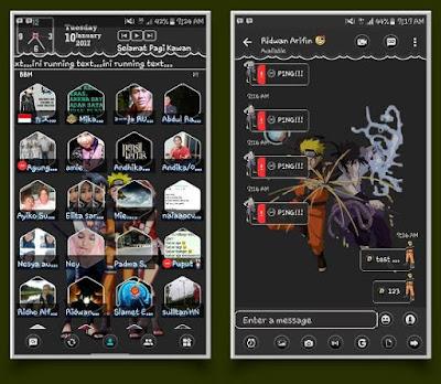 BBM Mod Naruto v3.2.3.11 Apk