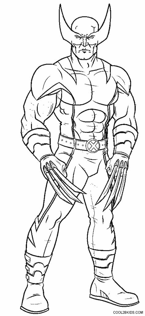 free coloring pages of wolverine - photo#30