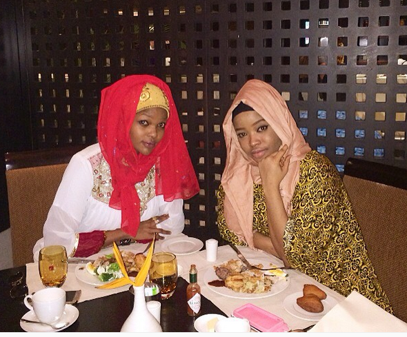 Wema Sepetu with VJ Peny having Iftar Together