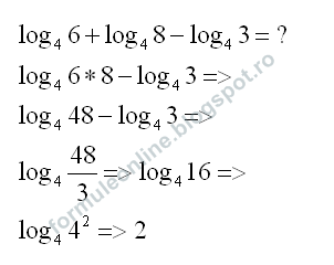 logarithm sum and difference