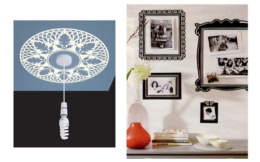 Vinilos y adhesivos decorativos para lámparas y marcos