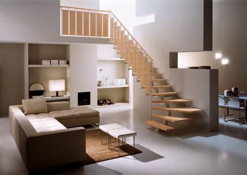 Decoraci n minimalista y contempor nea escaleras con estilo for Bibliotecas debajo de escaleras