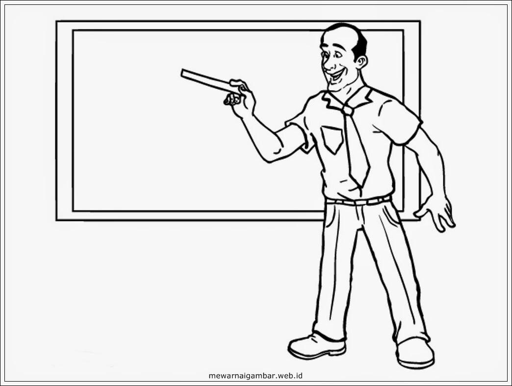 Mewarnai Gambar Profesi Guru