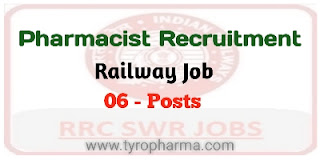 Vacancies for Pharmacists (6 posts) in RRB