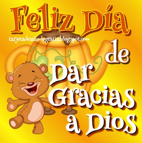 Postal nueva de Feliz Día de Dar Gracias a Dios