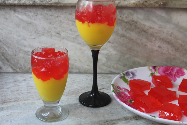 Vanilla Custard with Jelly Recipe - Easy Desert