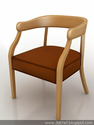 free 3d model leather chair