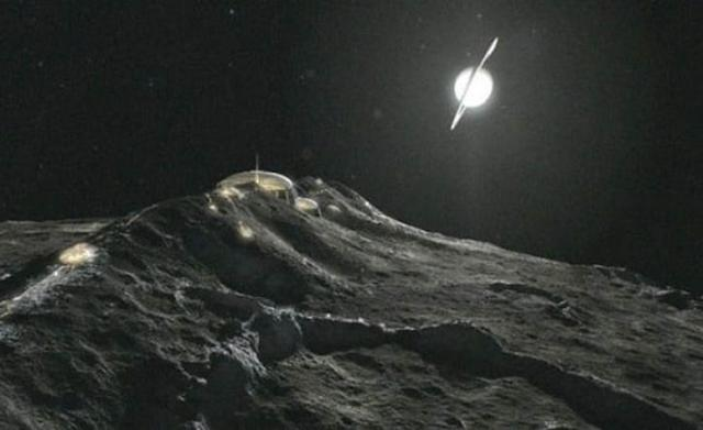 Alien Structures And Monolith Were Photographed On Iapetus, The Mysterious Moon Of Saturn