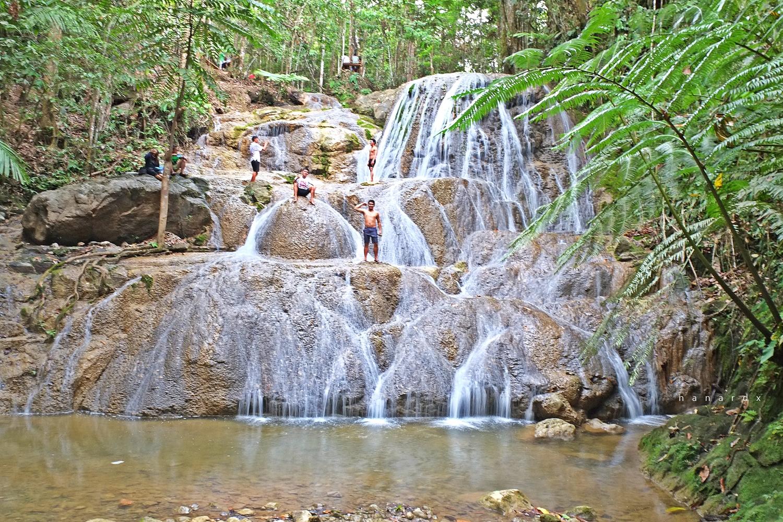 M'langen Falls in Tuanadatu, Maitum, Sarangani