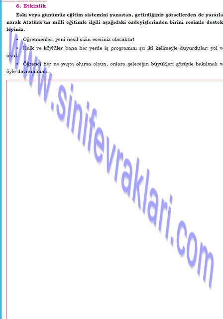 Dörtel Yayınları 8. Sınıf Türkçe Çalışma Kitabı Cevapları Sayfa 45