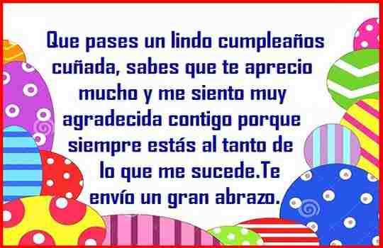 Mis mejores deseos de cumpleaños para ti cuñada querida