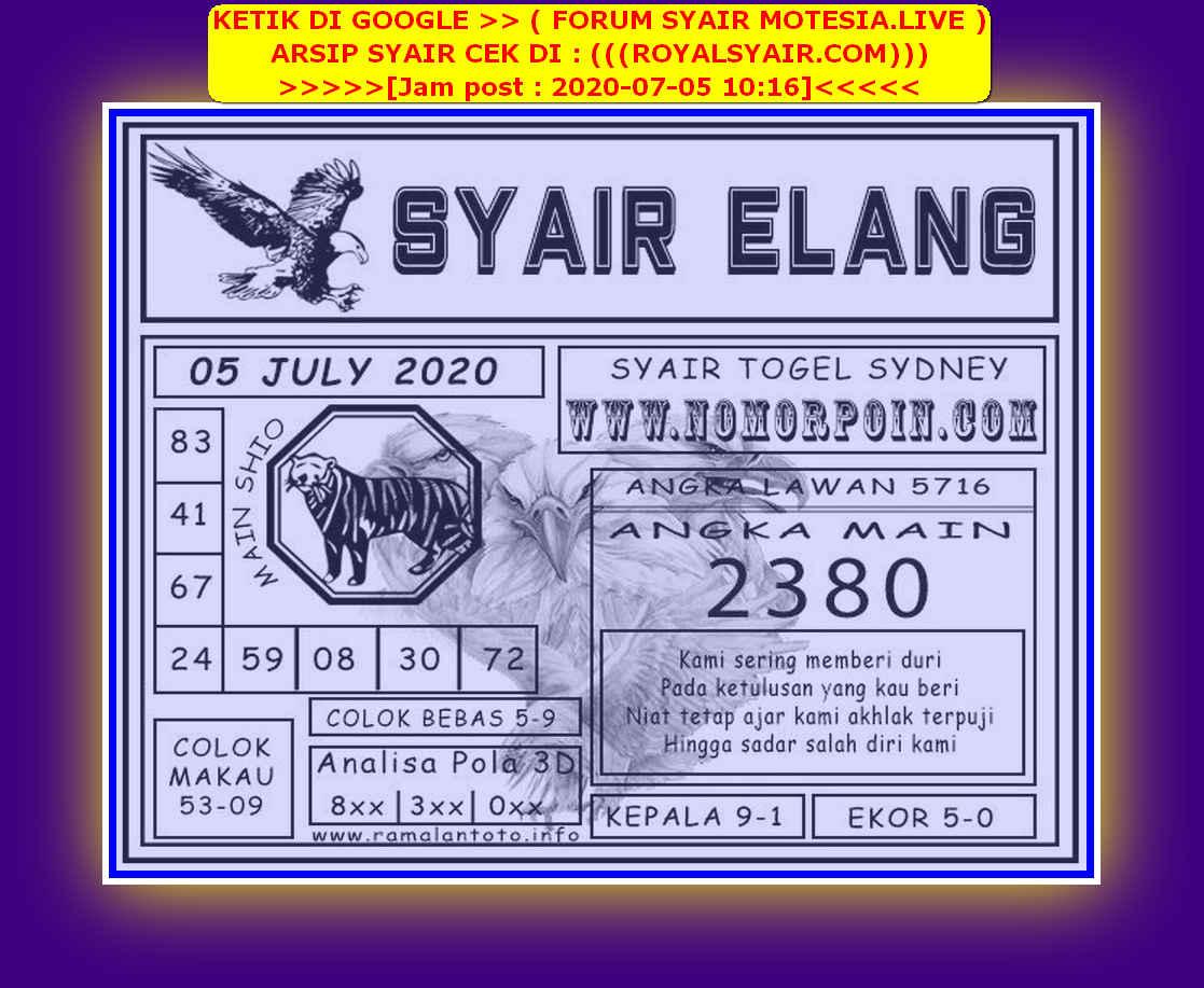 Kode syair Sydney Minggu 5 Juli 2020 88