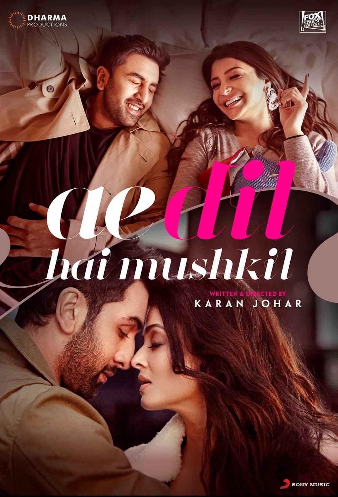 Ae Dil Hai Mushkil (2016) Full Movie Hindi 450MB BluRay 480p ESubs