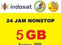 Paket Internet Indosat Data Full 24 Jam Sebulan