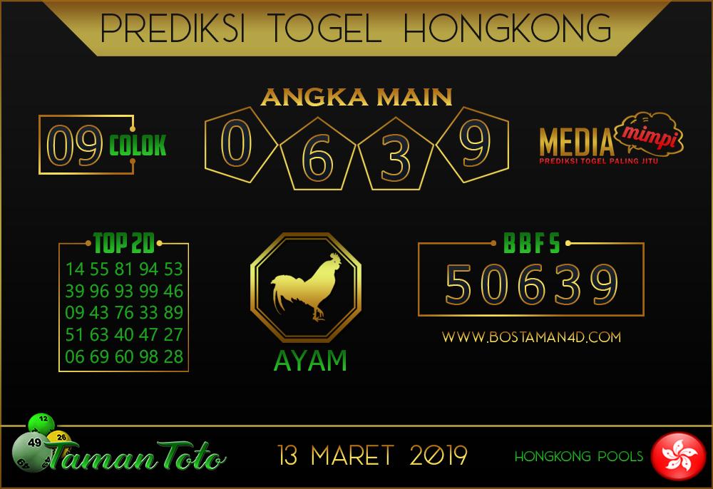 Prediksi Togel HONGKONG TAMAN TOTO 13 MARET 2019