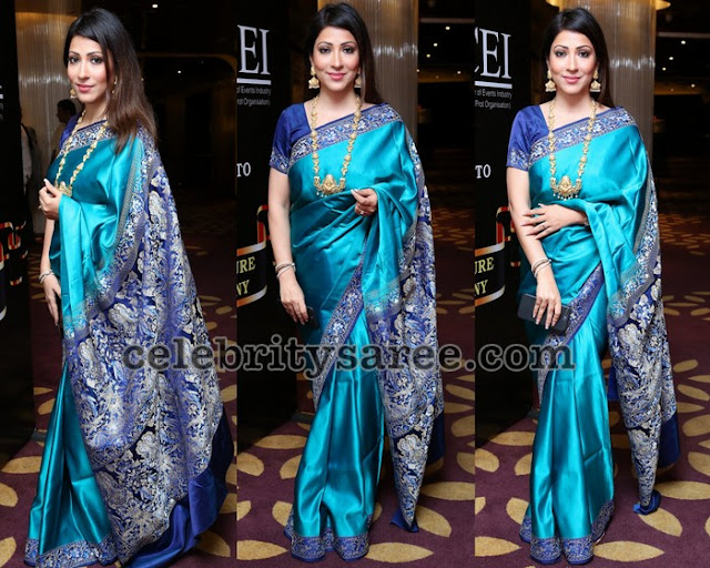 Shivani Blue Silk Saree