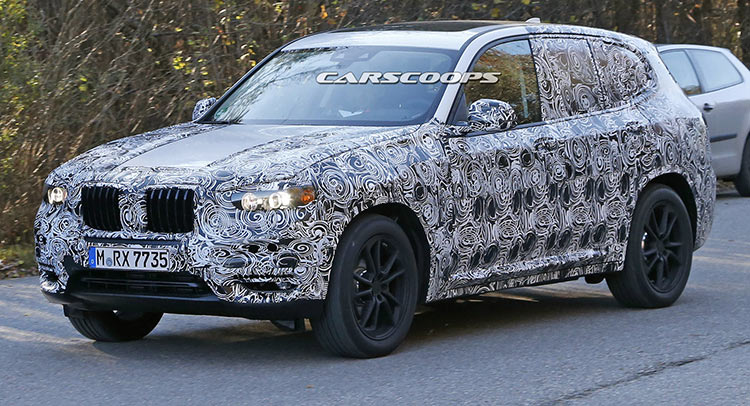 first spy shots of bmw s all new 2018 x3. Black Bedroom Furniture Sets. Home Design Ideas