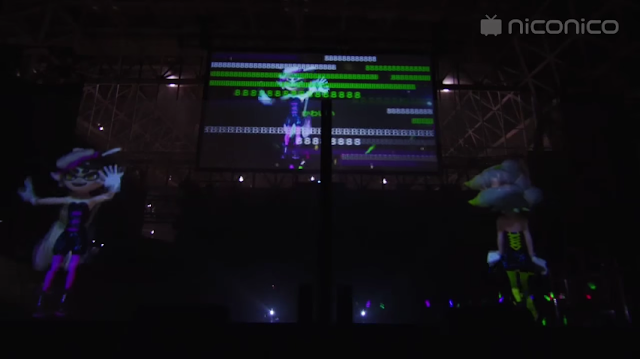 Splatoon – Squid Sisters - Live Concert at Niconico Tokaigi 2016 ending Marie Callie fans walks off