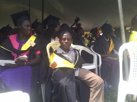 Photos: Ugandan Man Born Without Arms Graduates From University