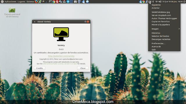 DriveMeca instalando Variety en Linux Ubuntu