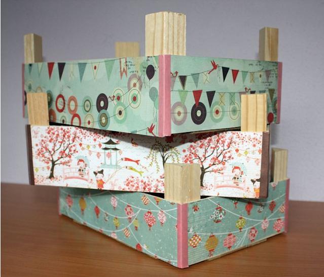 decoracion de cajas de fresas con papel de regalo