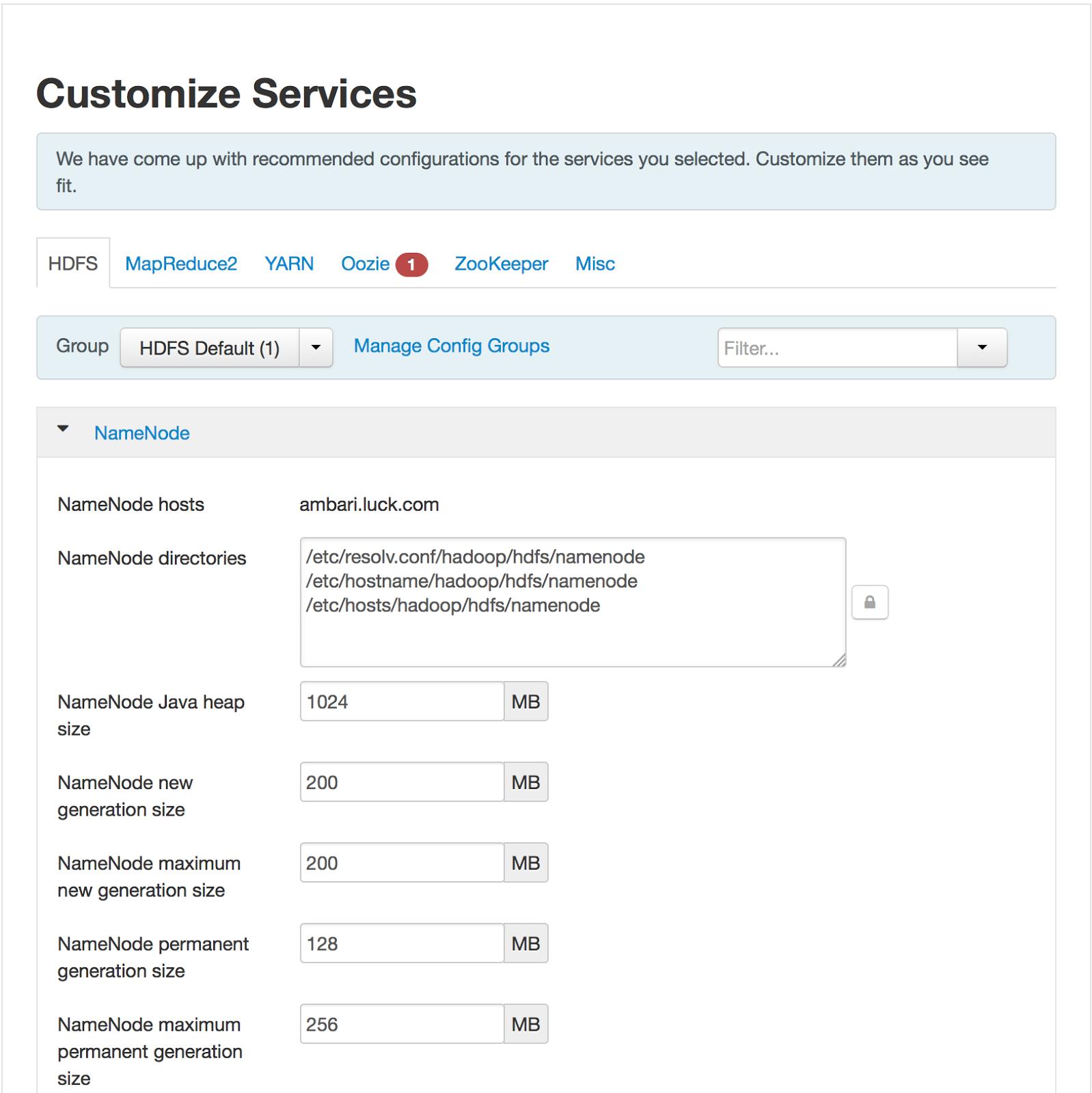 Installing Hadoop via Apache Ambari in Docker Containers
