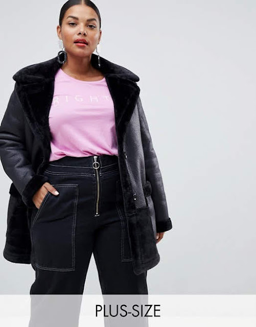 River Island Plus oversized pocket aviator jacket in black €65.49
