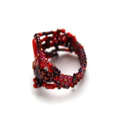 купить авторское украшение из бисера куплю кольцо ручной работы