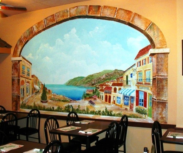 painted wall mural patterns