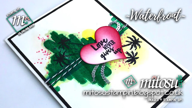 Stampin' Up! Waterfront SU Card Idea order craft products from Mitosu Crafts UK Online Shop