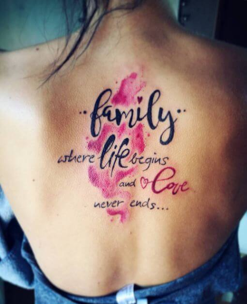 Family Saying Tattoo - Clipart Library •