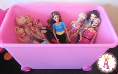 Ящик для игрушек и кукол барби