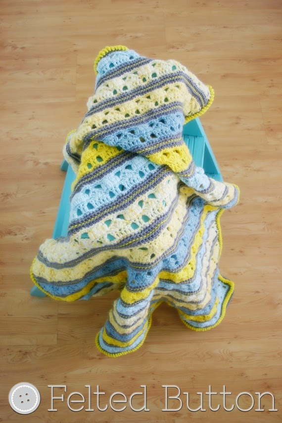 Coming Home Blanket by Felted Button -- crochet pattern
