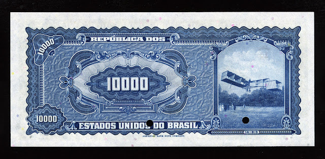Brazilian Currency banknotes 10000 Cruzeiros