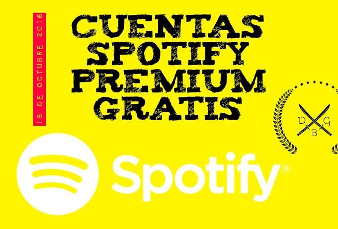 Cuentas Spotify premium Gratis 18 de octubre 2016
