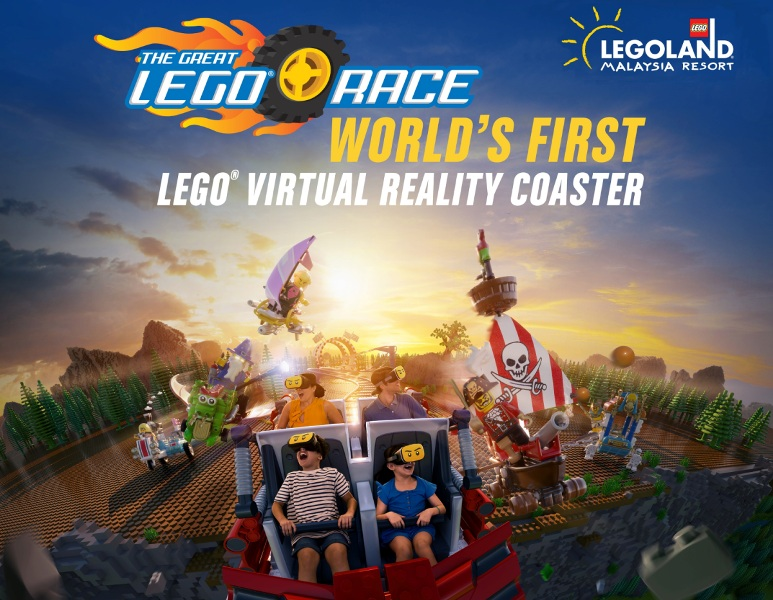 legoland great lego race virtual reality roller coaster