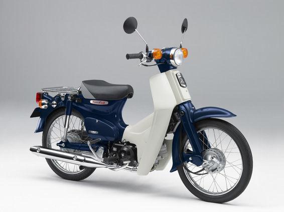 Honda super cub biru