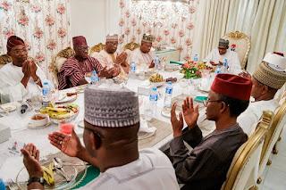president-buhari-broke-ramadan-fast