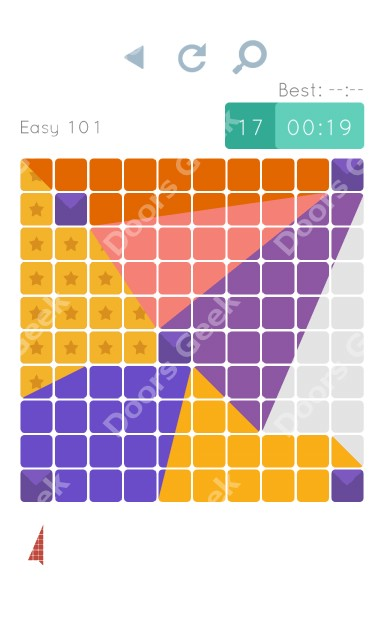 Cheats, Walkthrough for Blocks and Shapes Level 101