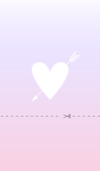 Love heart Pink gradation WV