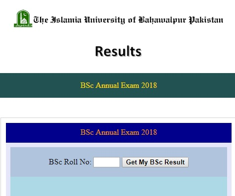 Result of BA BSc First Annual examination 2018 has been announced by Islamia University of Bahawalpur