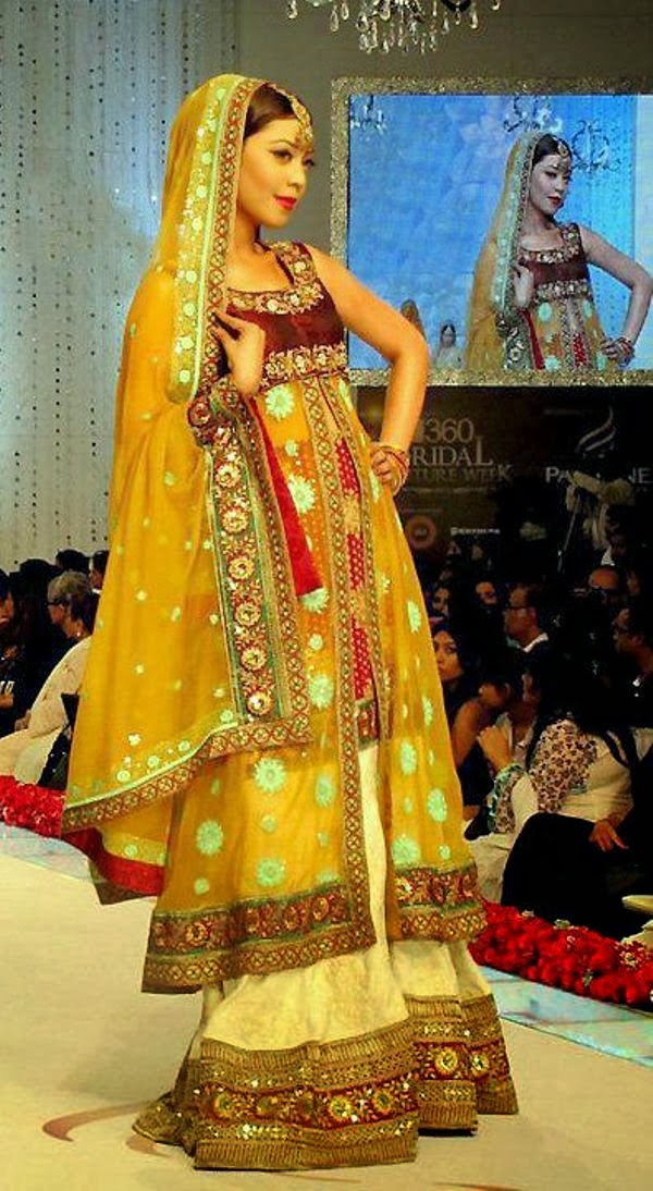 Concepts Of Best 10 Lehenga Outfits For Mehndi Wedding Operate 2015-16 | Breaking Fashion News ...