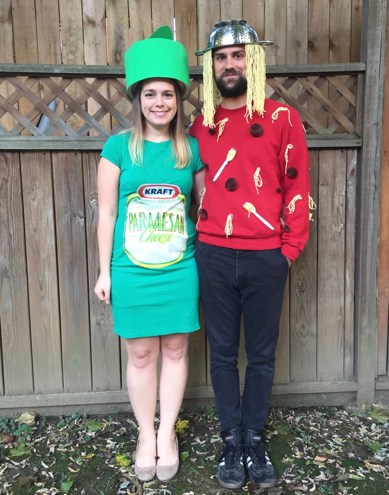 Halloween Costumes For 4 Friends.Our Halloween Costumes Spaghetti Parmesan Cheese The