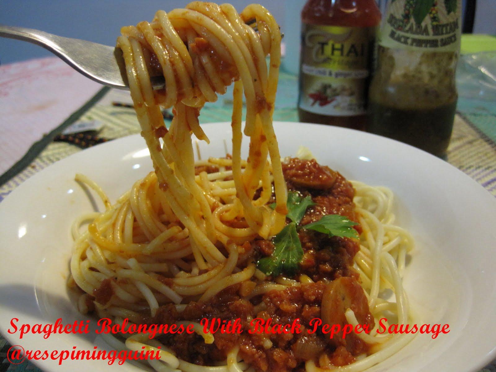 Koleksi Resepi Spaghetti Simple Carbonara Bolognese Meatball Sosej